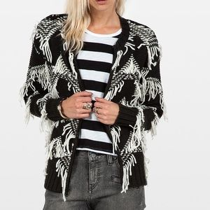 Volcom Black and White Knit Sweater